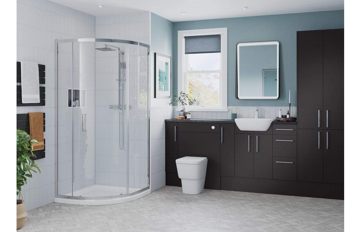 Bathrooms to Love Alba Matt Graphite Grey 2 Door Base Unit