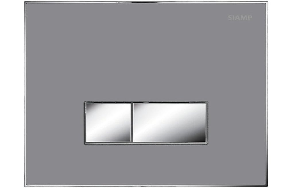 Bathrooms to Love Album Flush Plate - Flat Grey DIAC0046