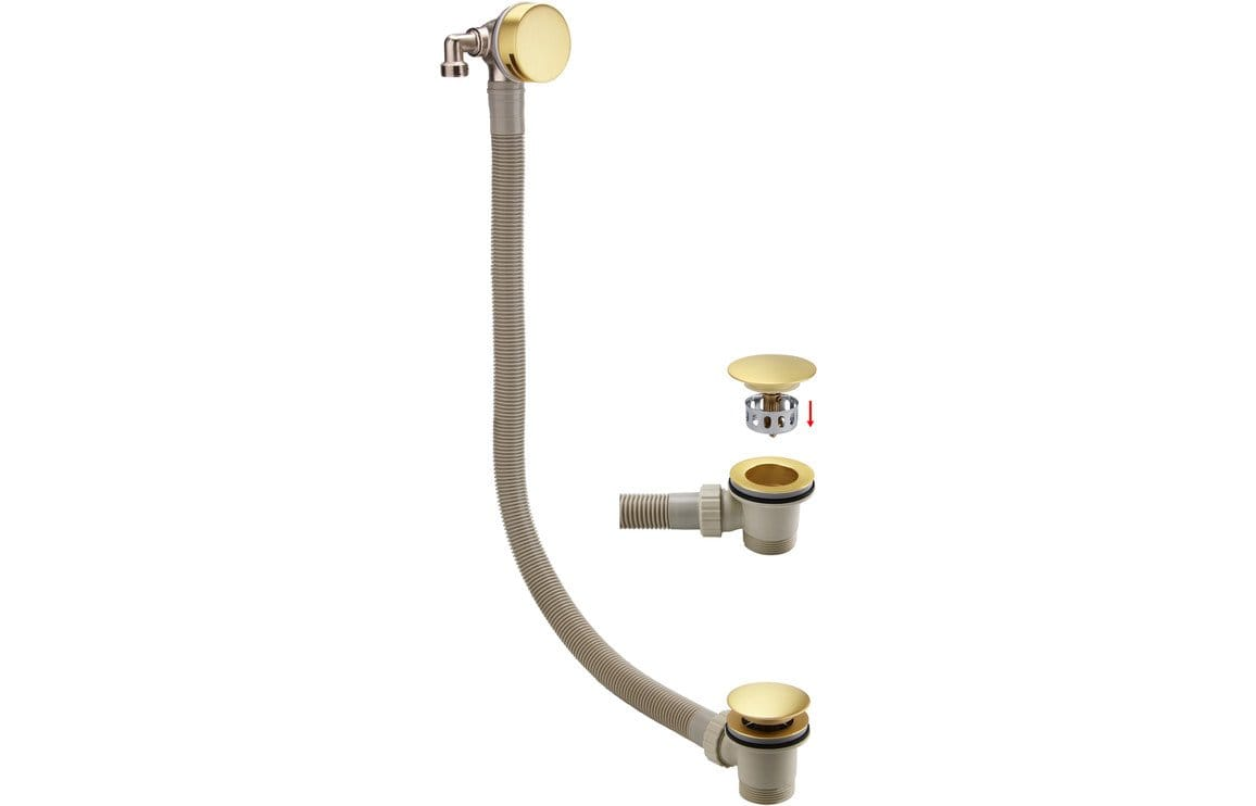 Bathrooms to Love Bath Filler Brushed Brass Waste & Overflow DITW0068