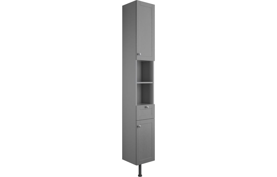 Bathrooms to Love Benita Grey Ash 300mm 2 Door Tall Unit DIFT1732