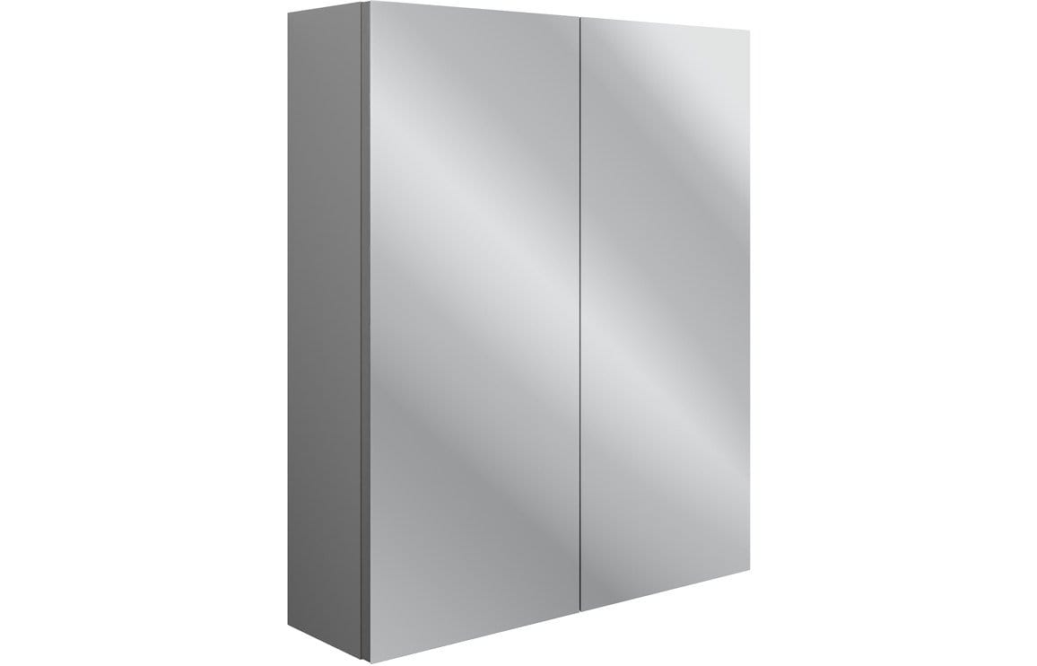 Bathrooms to Love Benita Grey Ash 600mm 2 Door Mirrored Wall Unit DIFT1726