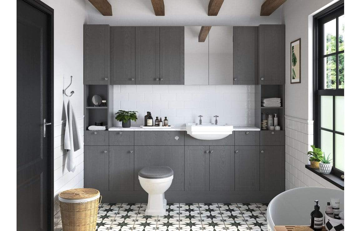 Bathrooms to Love Benita Grey Ash End Panel DIFT1744