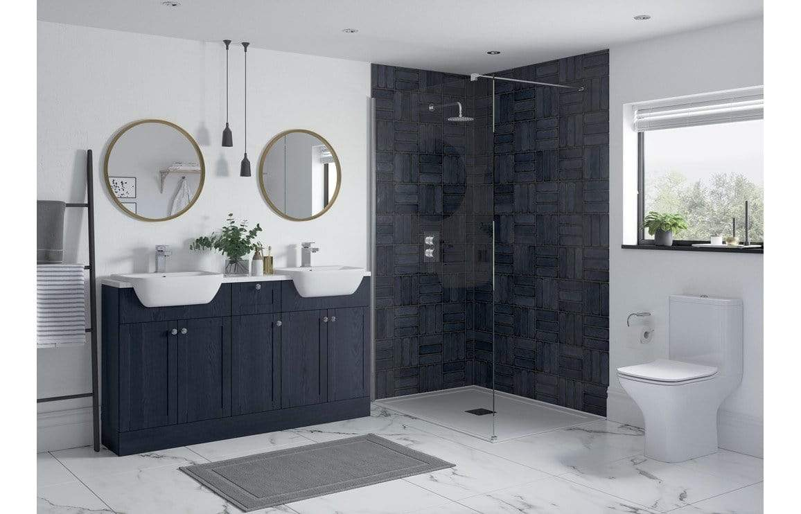 Bathrooms to Love Benita Indigo Ash 330 x 2200 Tall End Panel DIFT1748