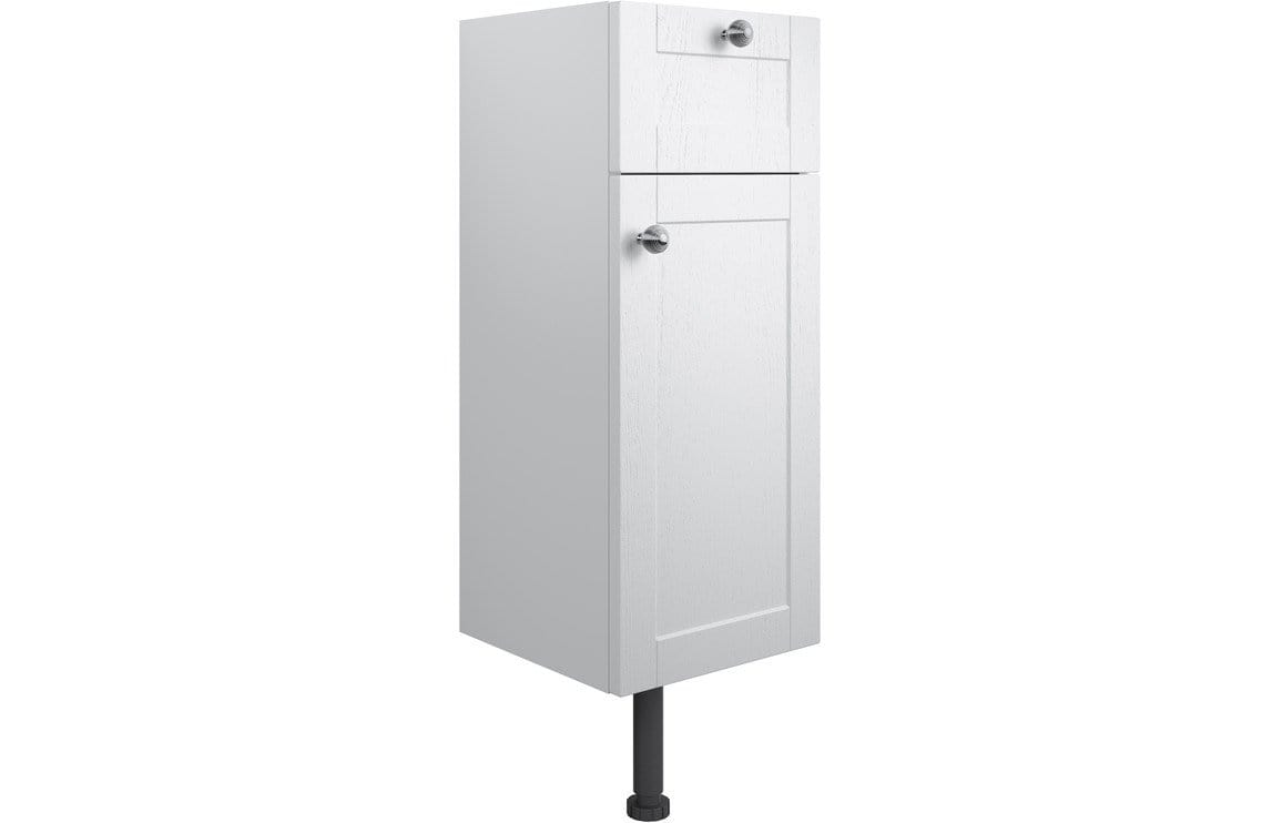 Bathrooms to Love Benita Satin White Ash 1 Drawer & 1 Door Base Unit DIFT1698