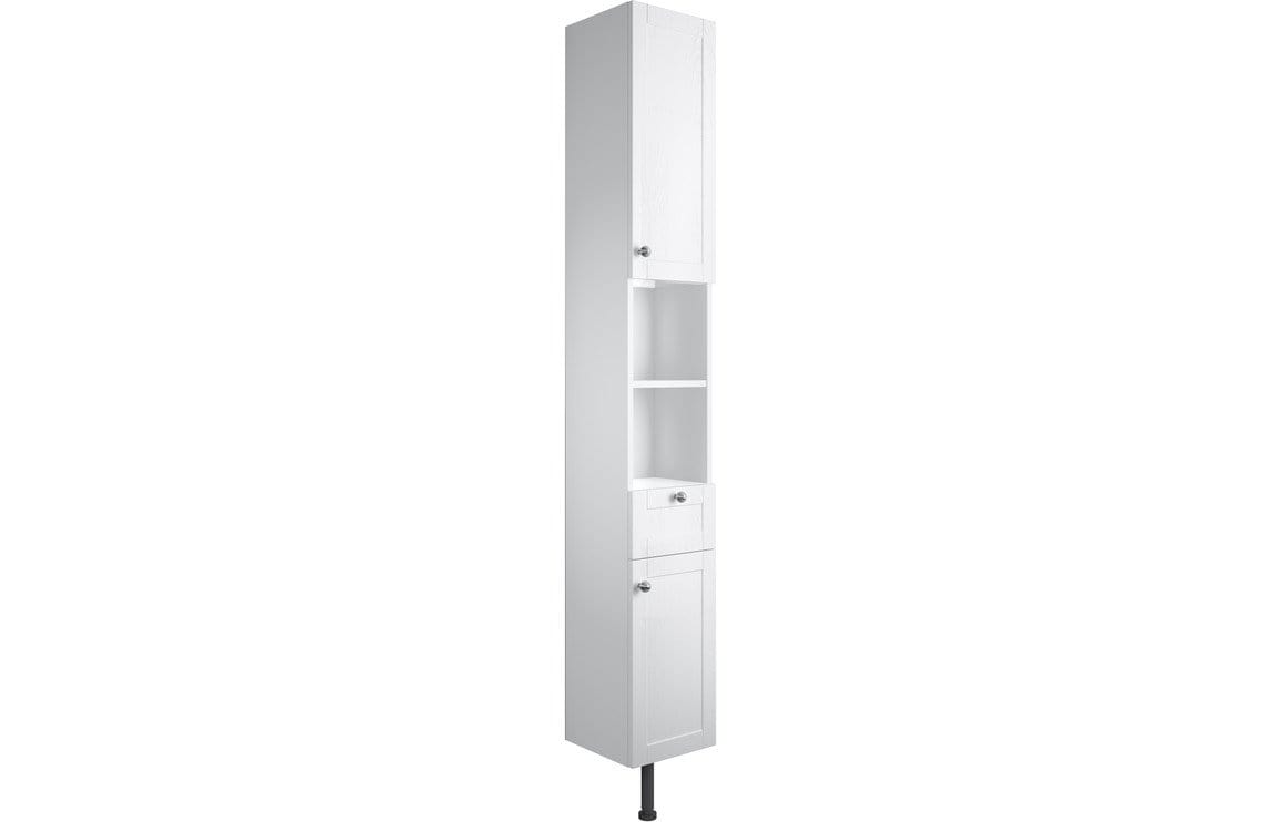 Bathrooms to Love Benita Satin White Ash 2 Door Tall Unit DIFT1734