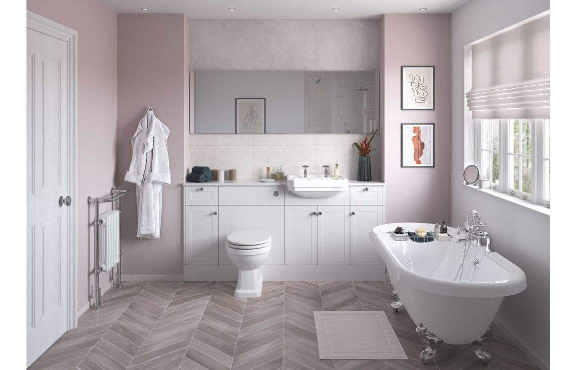 Bathrooms to Love Benita Satin White Ash Plinth DIFT1740