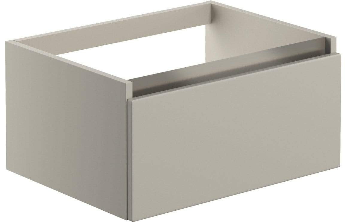 Bathrooms to Love Carino 600mm 1 Drawer Wall Hung Basin Unit (No Top) - Latte DIFT1882