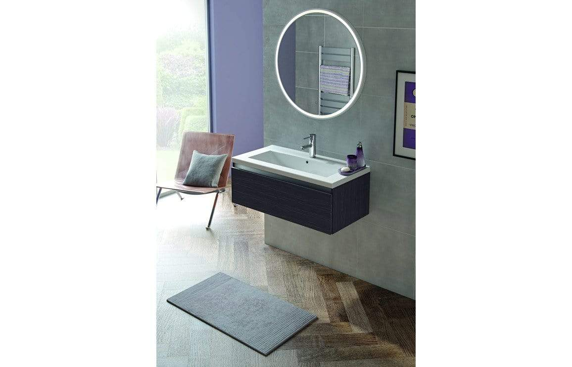 Bathrooms to Love Carino 800mm 1 Drawer Wall Hung Basin Unit (No Top) - Graphitewood DIFT1900