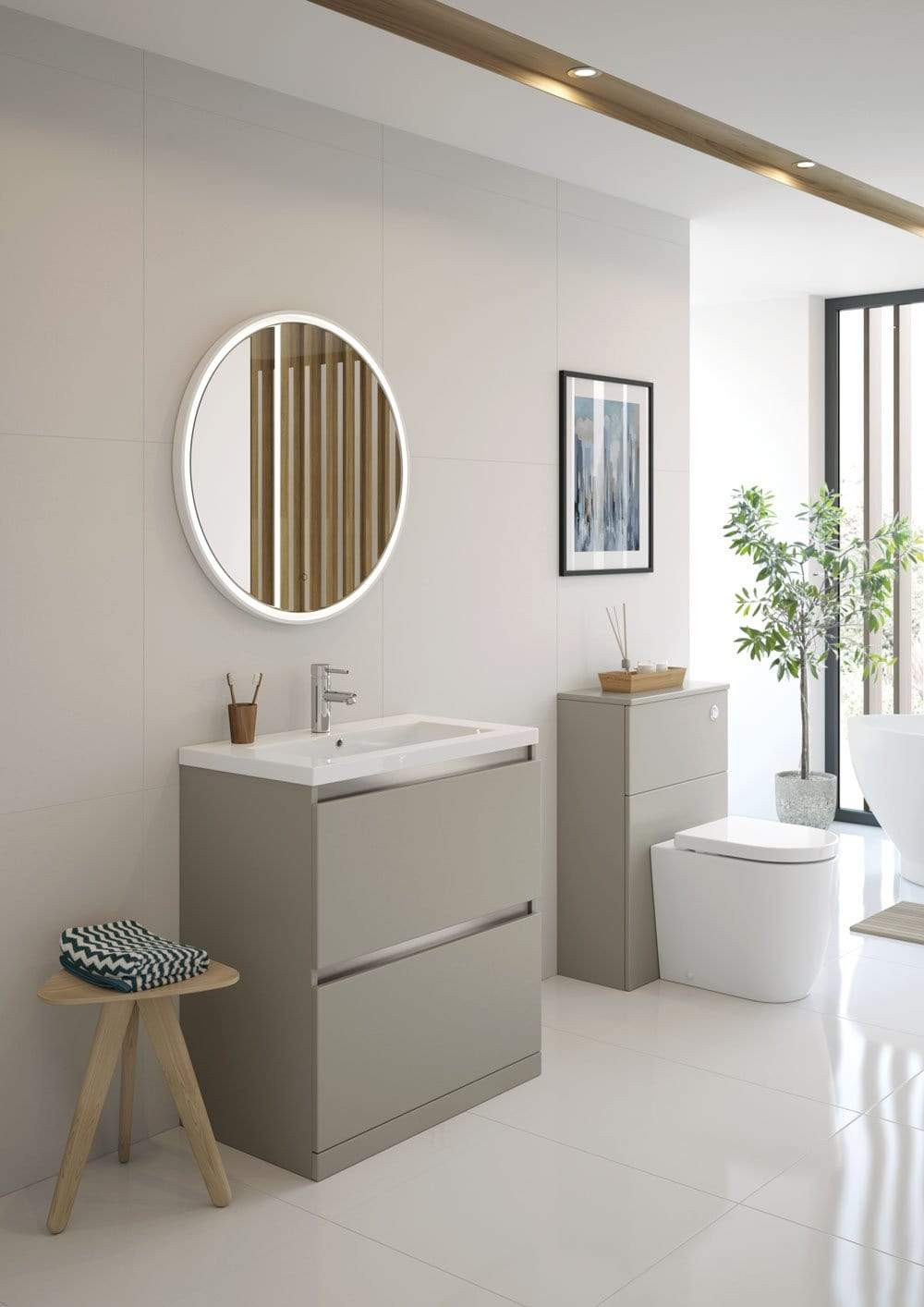 Bathrooms to Love Carino Latte 600mm Floor Standing WC Unit DIFT1886