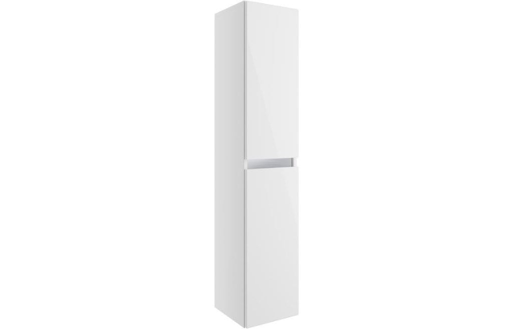 Bathrooms to Love Carino White Gloss 300mm 2 door wall mounted tall unit DIFM0472