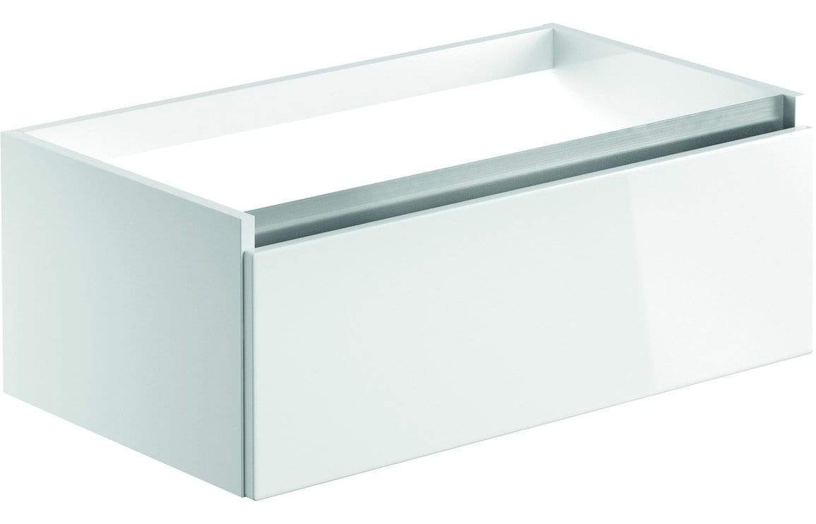 Bathrooms to Love Carino White Gloss 800mm 1 Drawer Wall Hung Vanity Unit (No Top) DIFT1898