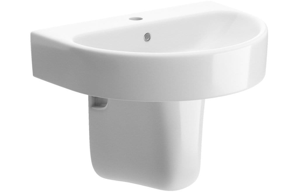 Bathrooms to Love Cilantro Basin with Semi Pedestal DIPBP1126