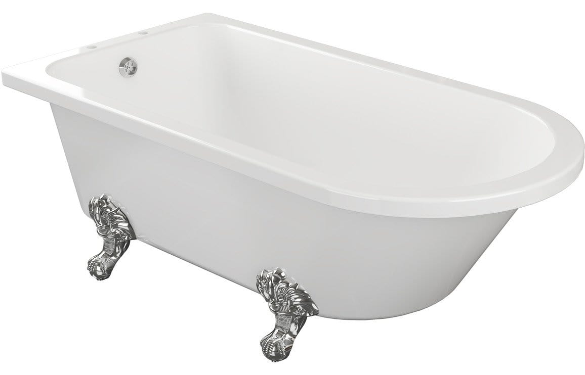 Bathrooms to Love Clevedon Freestanding 2TH Corner Bath with Feet DIBFP2024