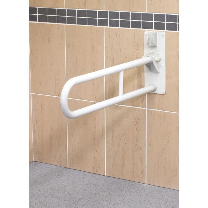 AKW Fold Up Double Support Rail (White) 01810WH
