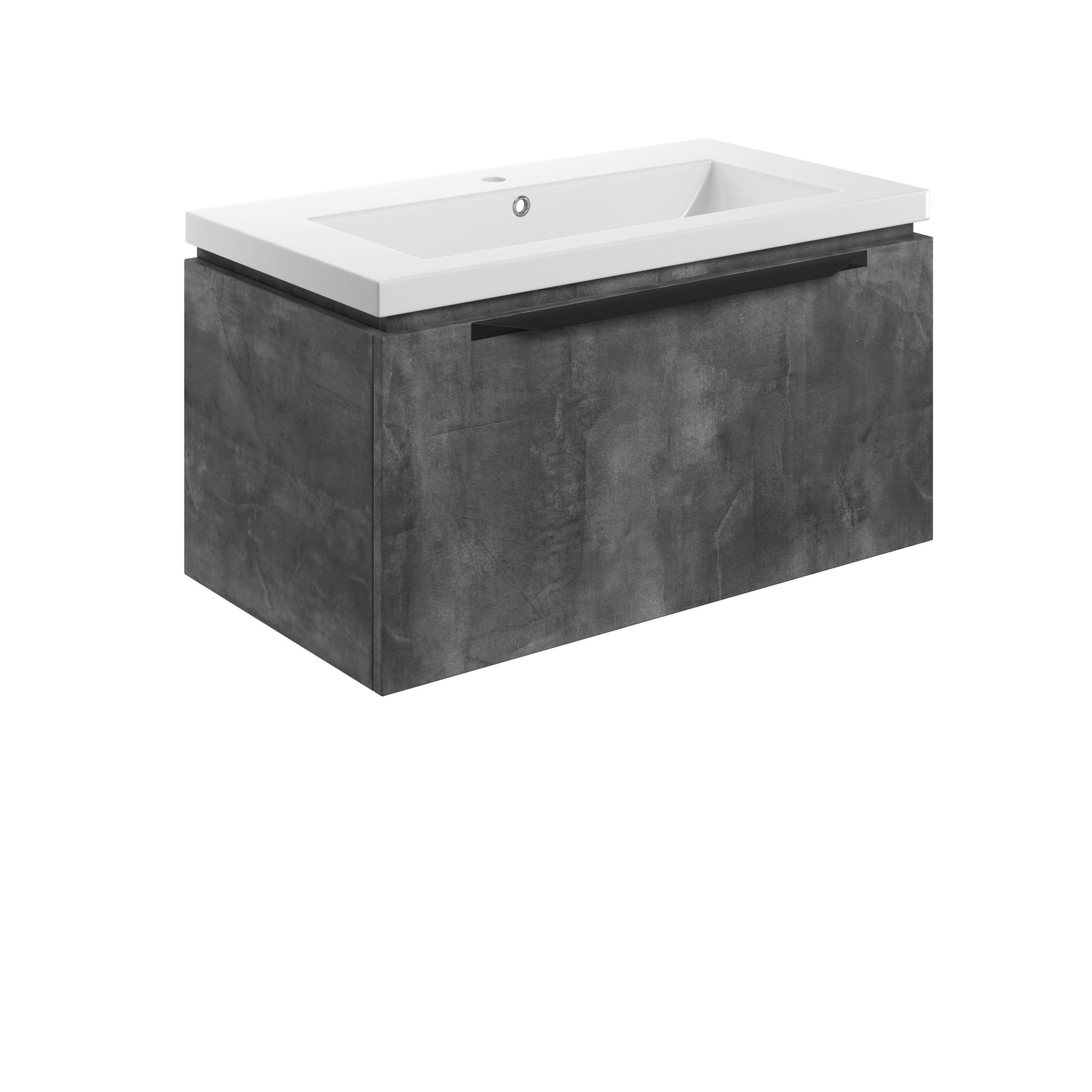 Bathrooms to Love Framework Grey Metal 800mm Wall Hung Vanity Unit & Basin DIFTP2026