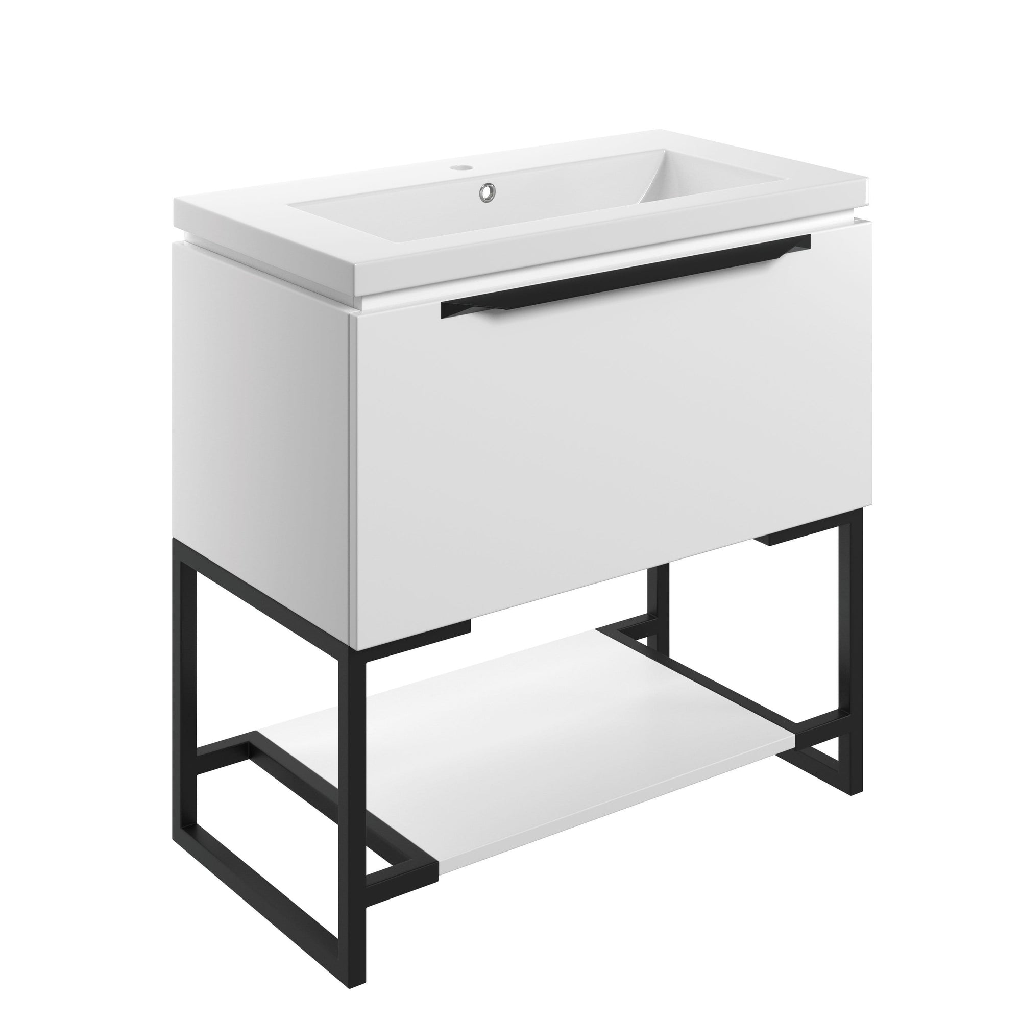 Bathrooms to Love Framework Matt White 800mm Floor Standing Vanity Unit with Basin DIFTP2038