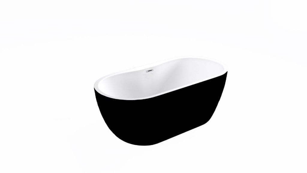 Bathrooms to Love Harlesden Black Freestanding Bath 1655x740x580 DIBF0054