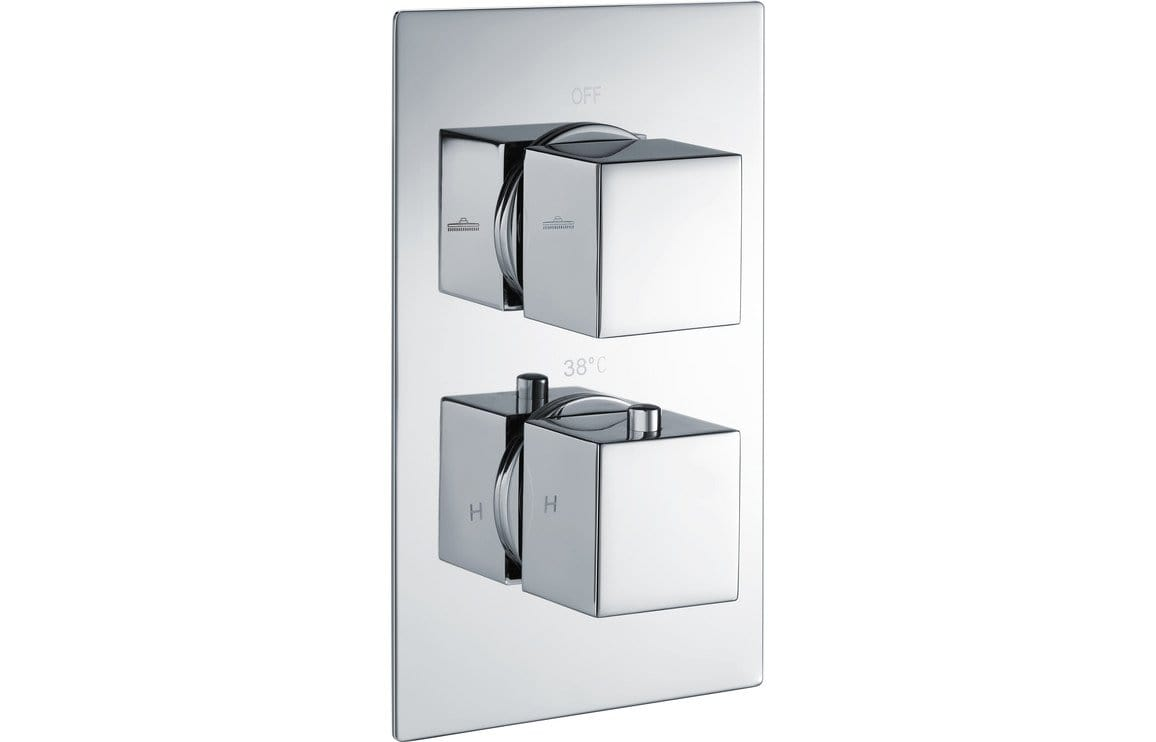 Bathrooms to Love Kuba Thermostatic Twin Shower Valve - Two Outlet DICM0282