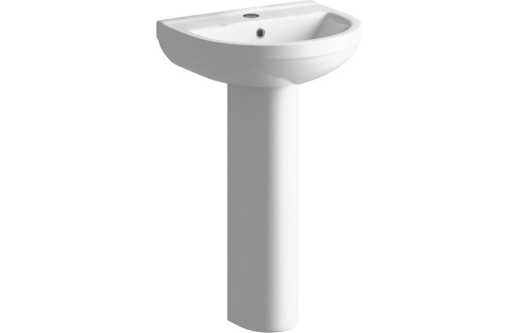 Bathrooms to Love Laurus² 500x390mm 1TH Full Basin and Pedestal DIPBP1152