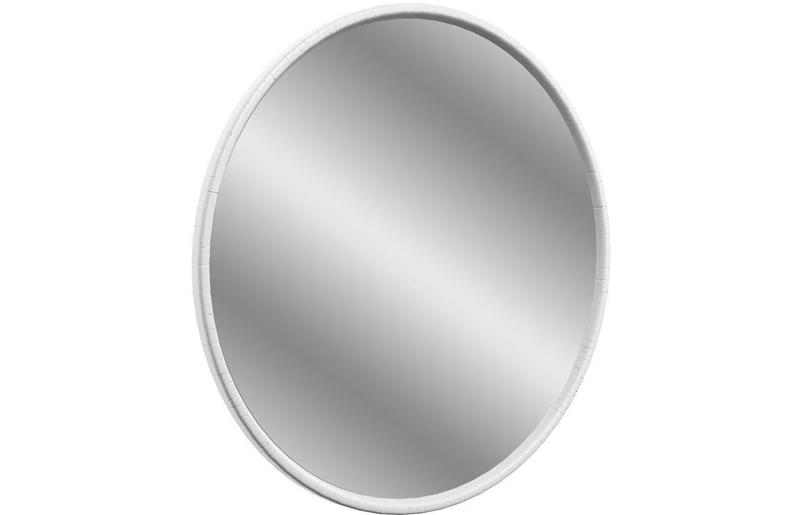 Bathrooms to Love Lucia 550x550mm Round Mirror - Satin White Ash DIMS5504