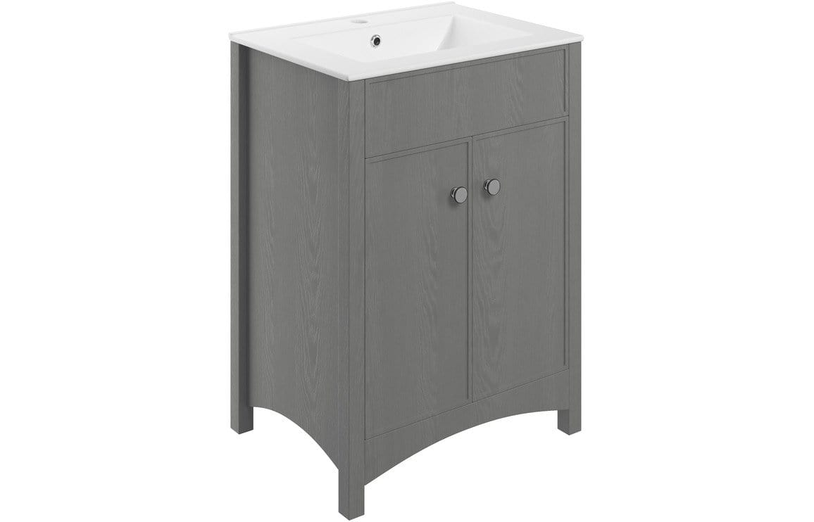 Bathrooms to Love Lucia Grey Ash 610mm Vanity Unit & Basin DIFTP1944
