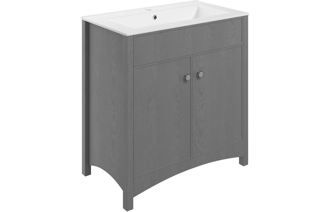 Bathrooms to Love Lucia Grey Ash 810mm Vanity Unit & Basin DIFTP1946
