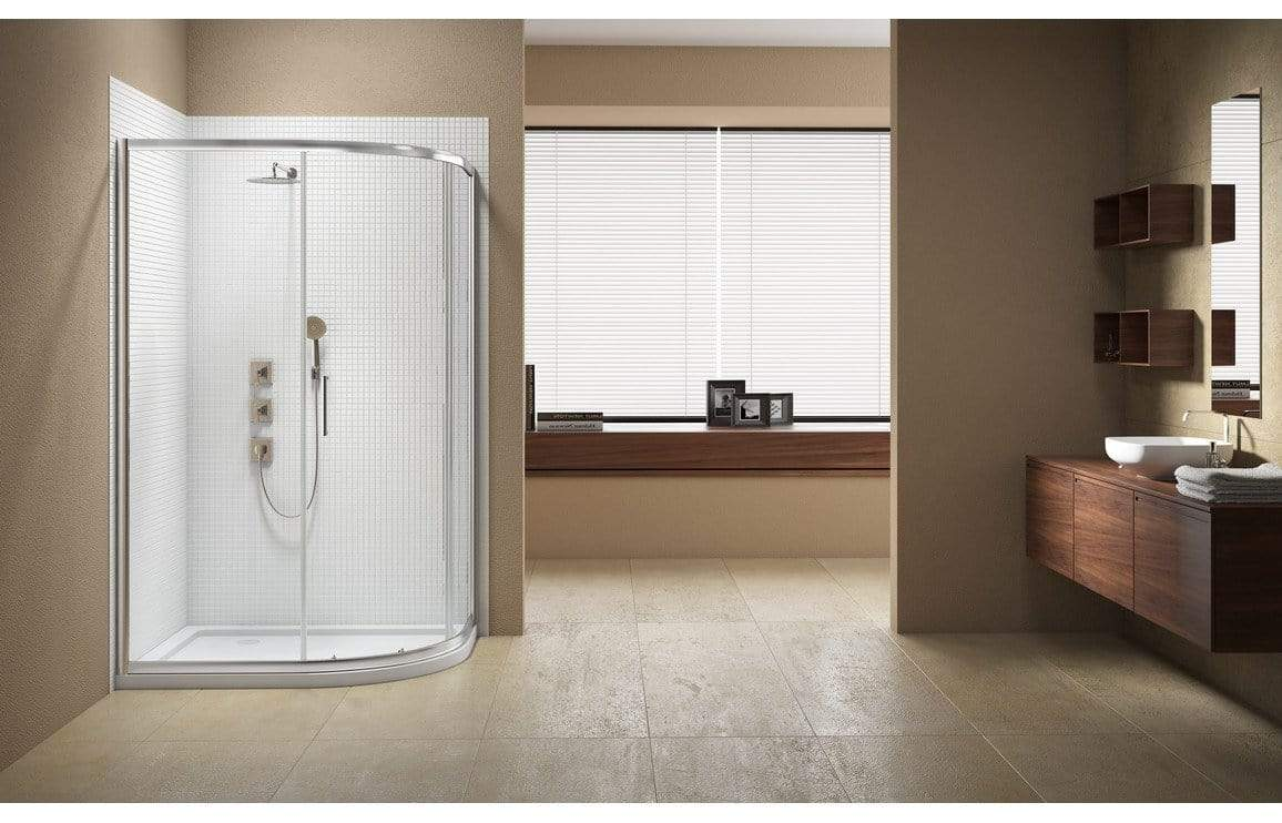 Bathrooms to Love Merlyn Vivid Sublime 1 Door Offset Quadrant Shower Enclosure