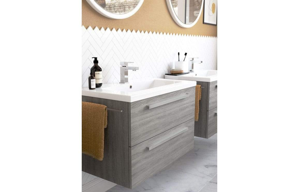 Bathrooms to Love Morina Elm Grey Laminate Worktop (800x460x25mm) DIFW0170