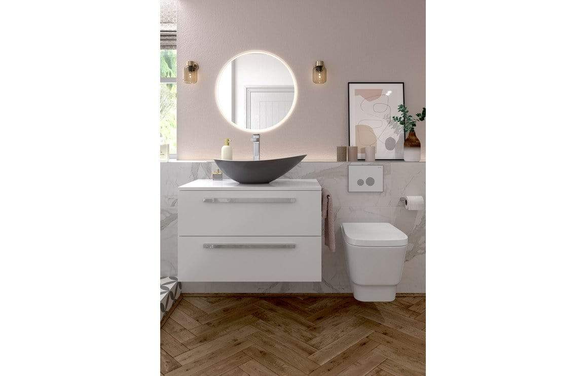 Bathrooms to Love Morina White Gloss 600mm Floor Standing Vanity Unit (No Top) DIFT1818