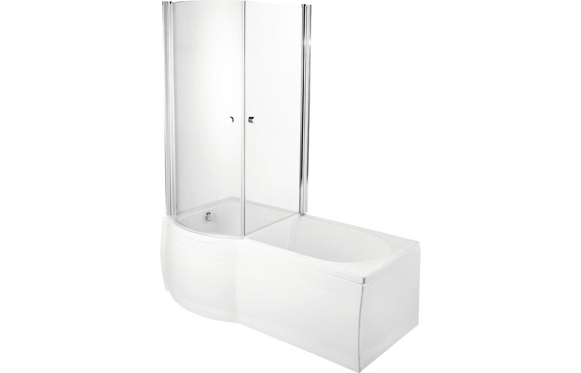 Bathrooms to Love P-Shape SUPERCAST 1675 0TH Shower Bath DIBSH014C