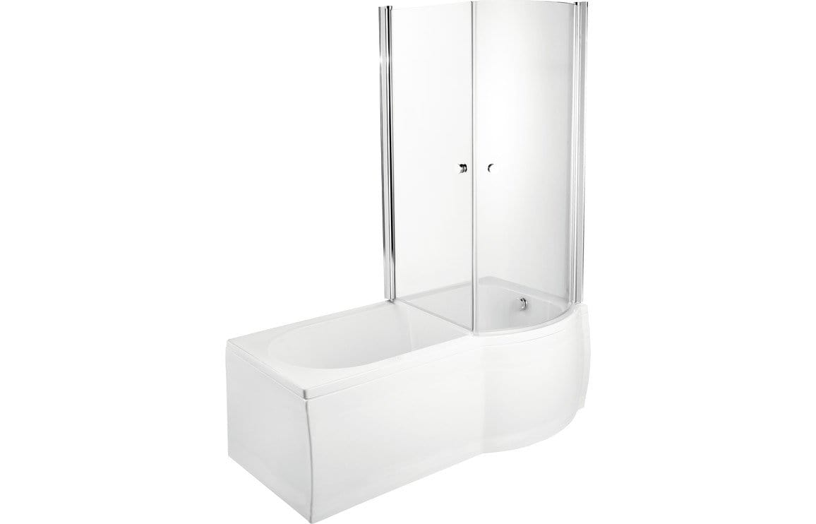Bathrooms to Love P-Shape SUPERCAST 1675 0TH Shower Bath DIBSH016C