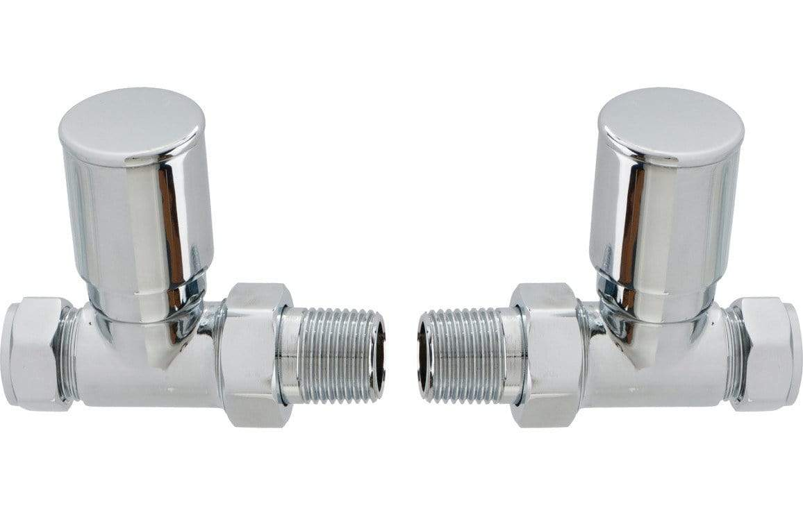 Bathrooms to Love Patterned Straight Radiator Valve - Chrome DIRA0228