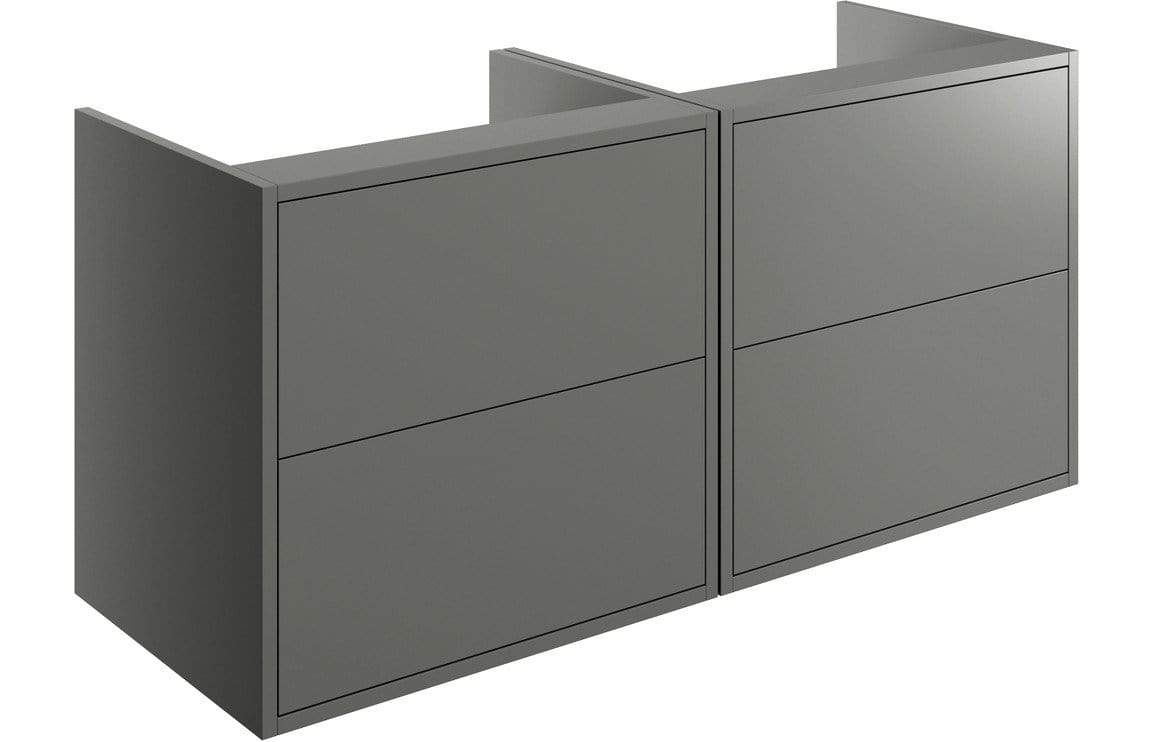 Bathrooms to Love Perla Matt Grey 1200mm Wall Hung Vanity Run (No Top) DIFTP2008