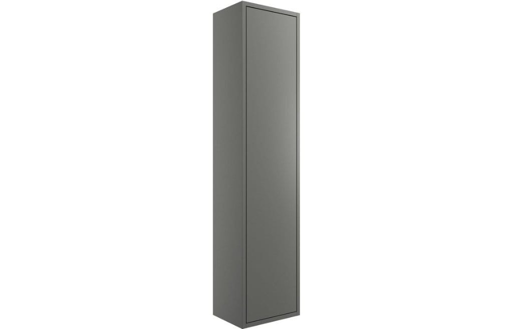 Bathrooms to Love Perla Matt Grey 300mm 1 Door Wall Mounted Tall Unit DIFT1216