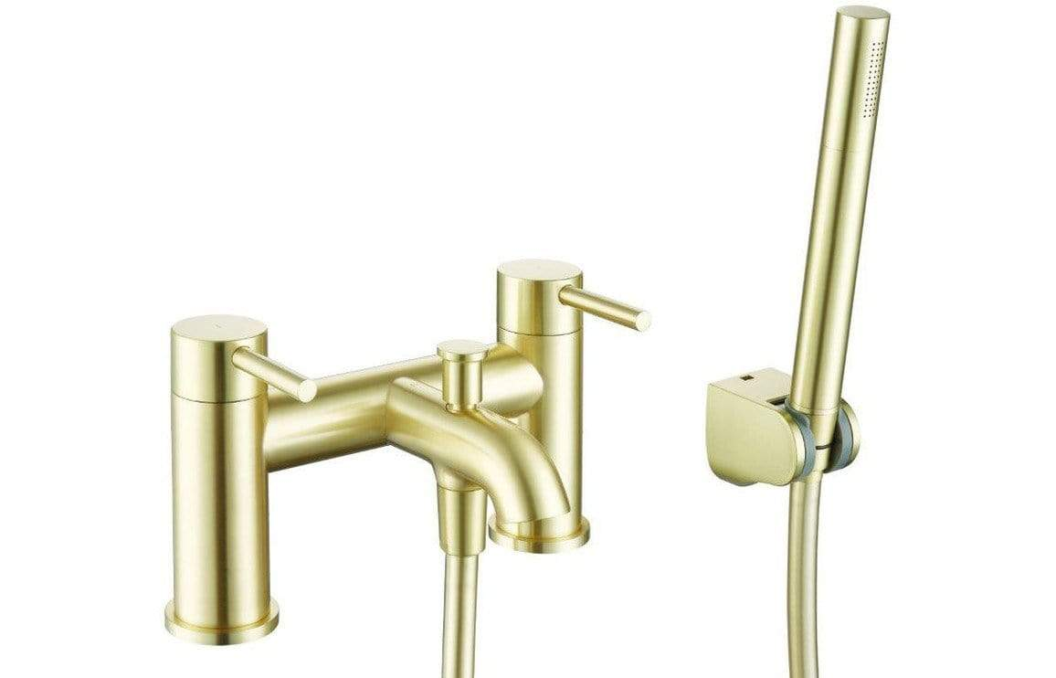 Bathrooms to Love Pesca Brushed Brass Bath Shower Mixer DITB1094