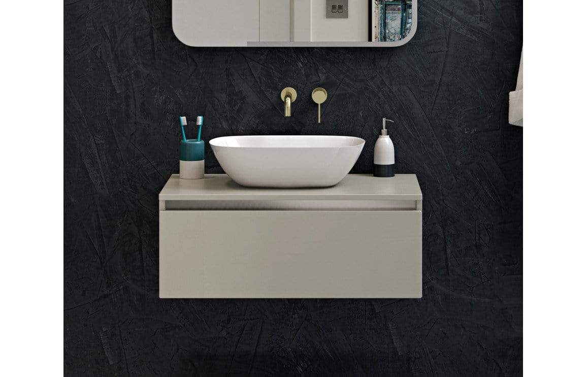 Bathrooms to Love Pesca Brushed Brass Mono Wall Mounted Basin Tap DITS1192