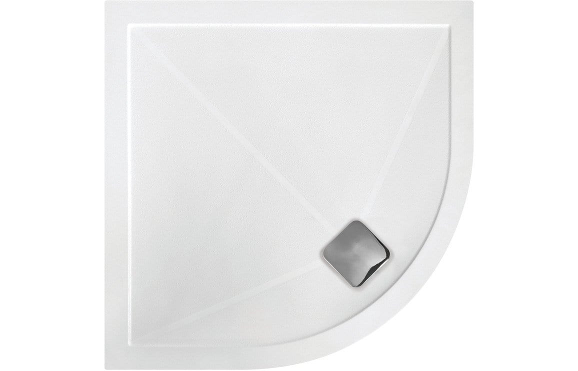 Bathrooms to Love RefleXion 25mm Anti-Slip Ultra-Slim 800mm Quadrant Tray DIETP8008