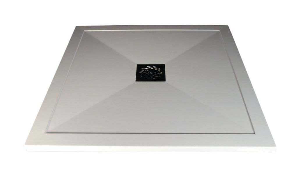 Bathrooms to Love RefleXion 25mm ultra-slim 800mm x 800mm square tray and waste DIETP1422