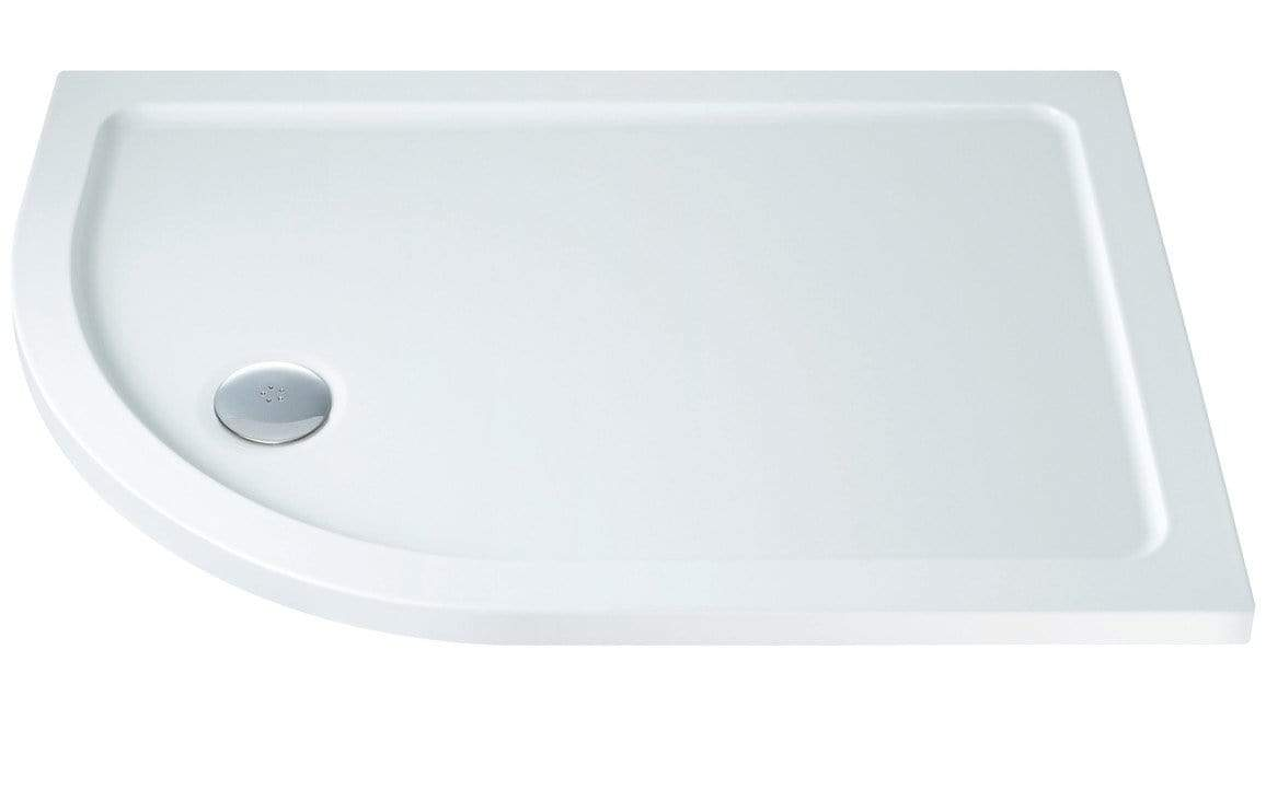 Bathrooms to Love RefleXion 40 mm Slimline Offset Quadrant Tray & Waste