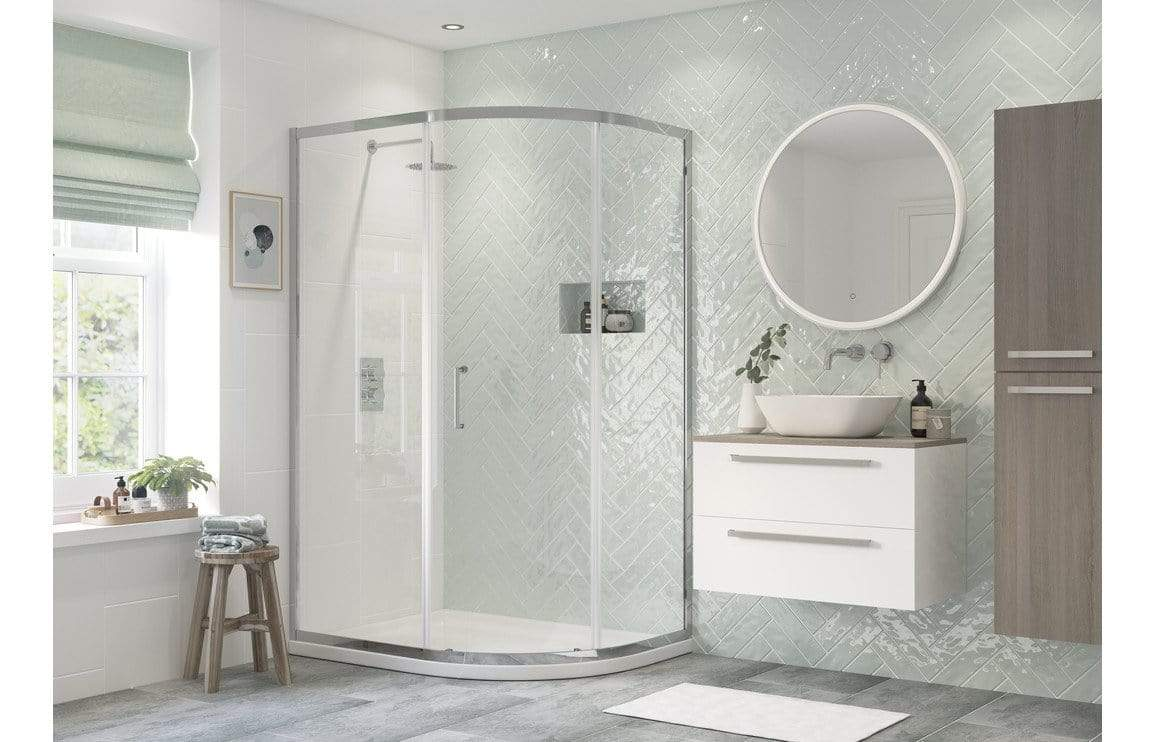 Bathrooms to Love Reflexion Flex 1 Door Offset Quadrant