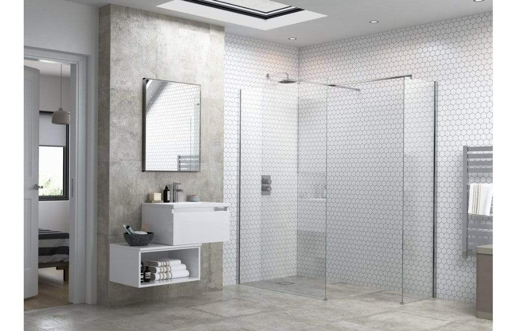 Bathrooms to Love RefleXion Flex Optional Wetroom Side Panel, Support Bar & T Connector