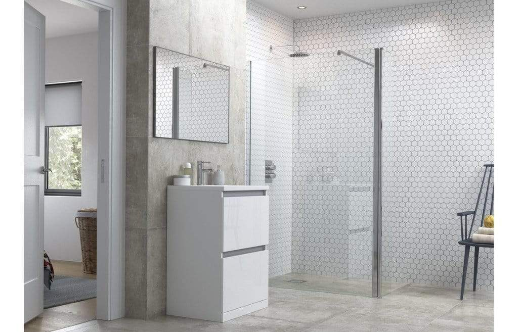 Bathrooms to Love Reflexion Flex Wetroom Panel, Support Bar & 300mm Rotatable Panel