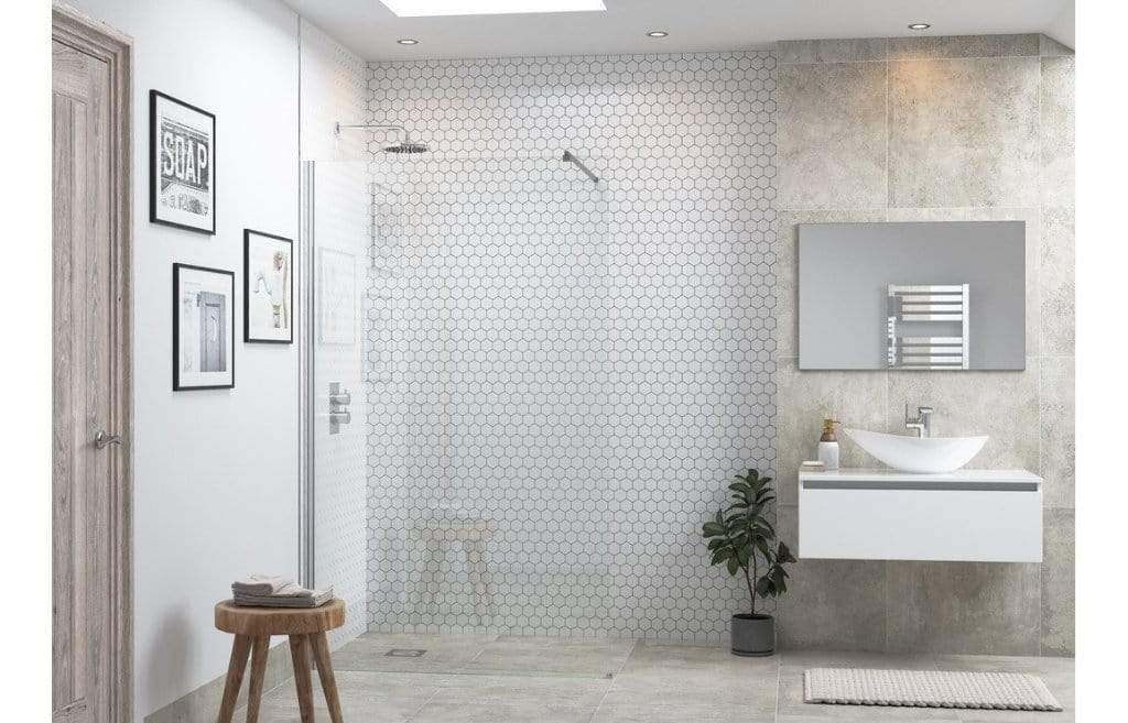 Bathrooms to Love RefleXion Flex  Wetroom Panel & Support Bar