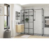 Bathrooms to Love Reflexion Iconix Black Framed Wetroom Side Panel 760/800mm