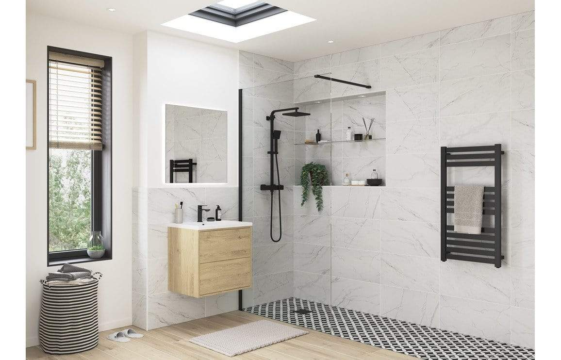 Bathrooms to Love RefleXion Iconix Black Profile Wetroom Panel