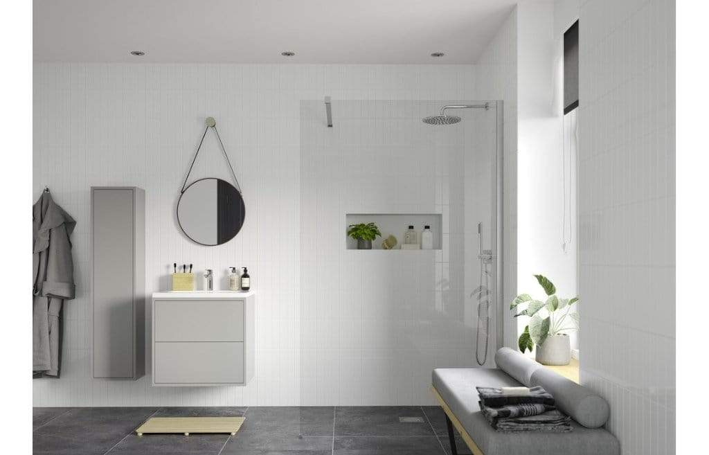 Bathrooms to Love Reflexion Iconix Wetroom Panel & Support Bar