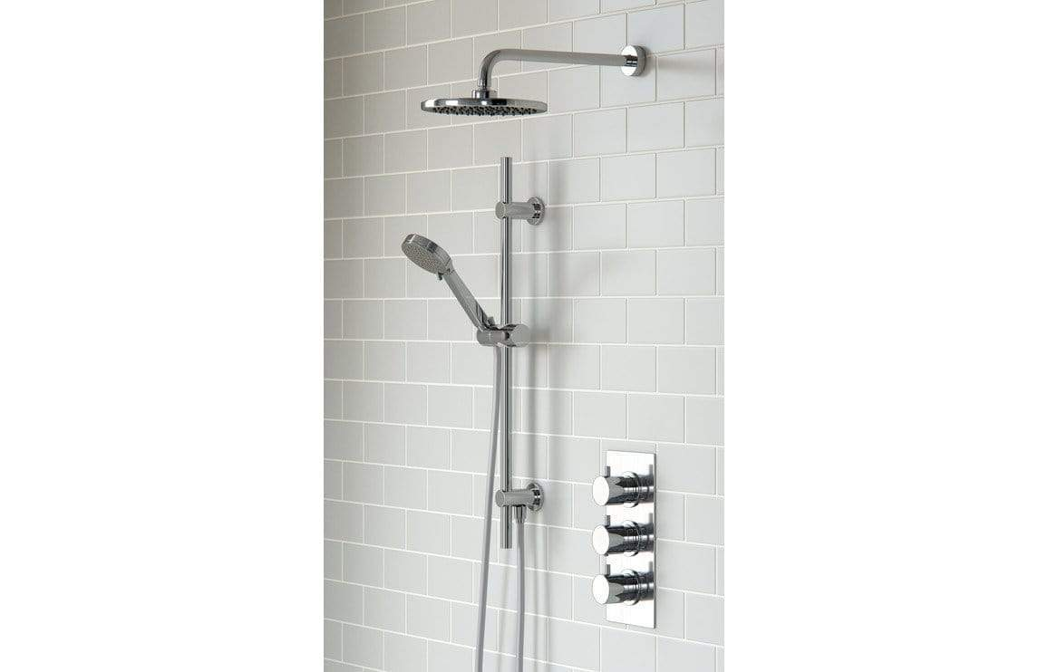 Bathrooms to Love Round Shower Pack 11 - Circa Triple Three Outlet & Riser/Overhead Kit DICMP0080