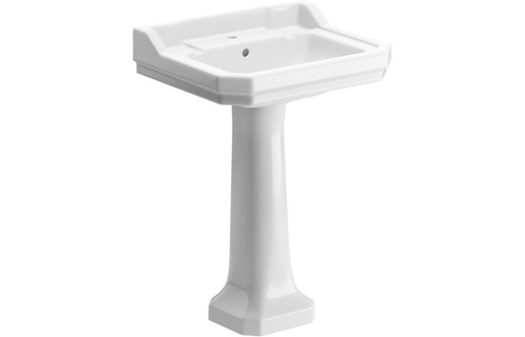 Bathrooms to Love Sherbourne 600x500mm Basin & Full Pedestal DIPBP1148