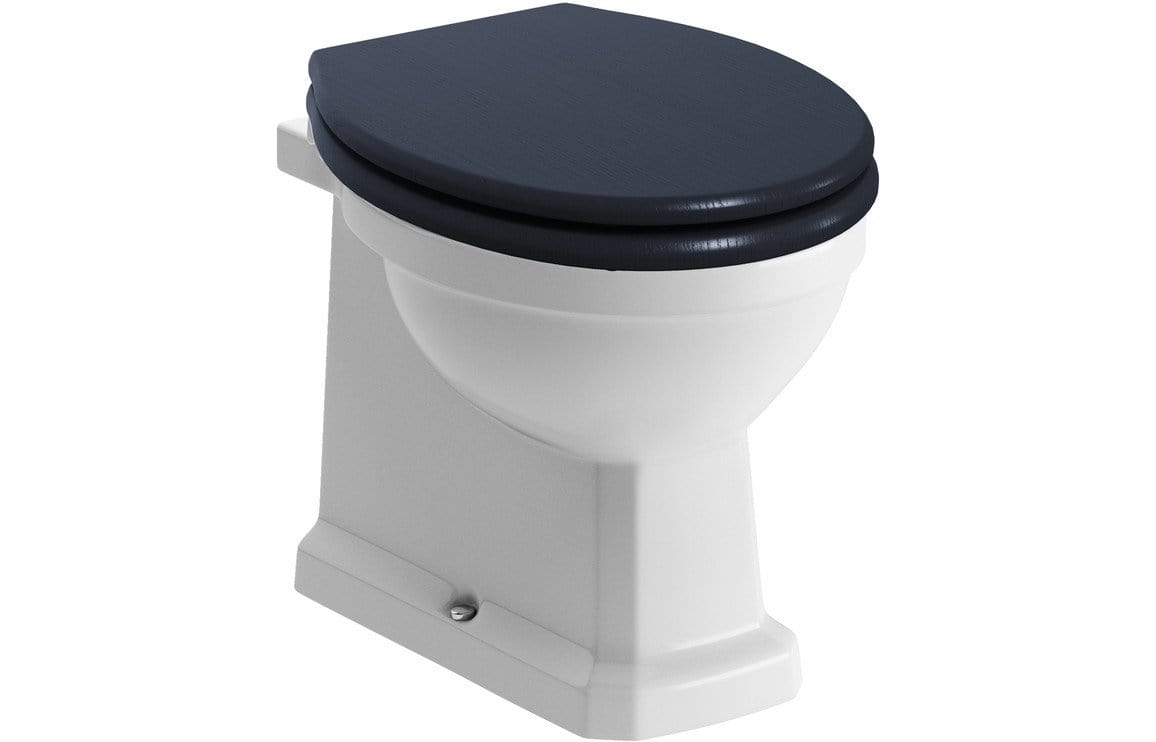 Bathrooms to Love Sherbourne BTW WC & Benita Indigo Ash Soft Close Seat DIPTP0232