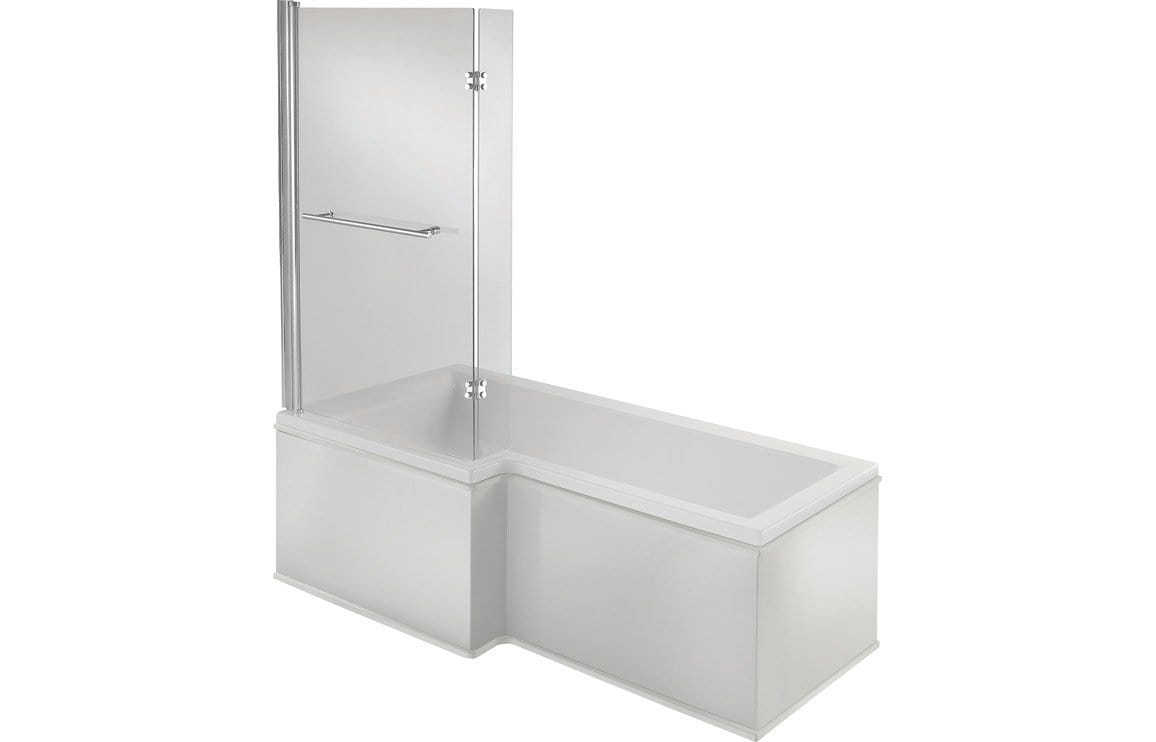 Bathrooms to Love Solarna L Shape 1700x700 Shower Bath Pack DIBSHP078